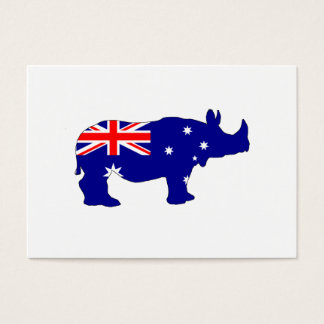 Australian Flag - Rhinoceros Business Card