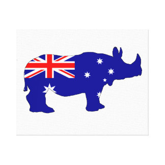 Australian Flag - Rhinoceros Canvas Print