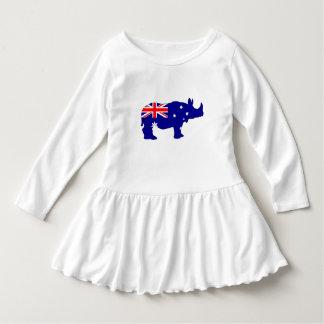 Australian Flag - Rhinoceros Dress
