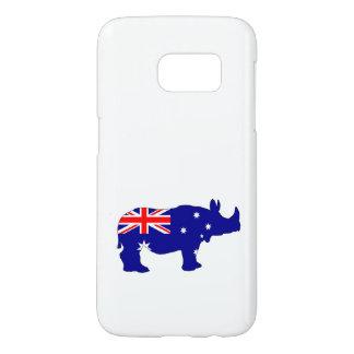 Australian Flag - Rhinoceros Samsung Galaxy S7 Case