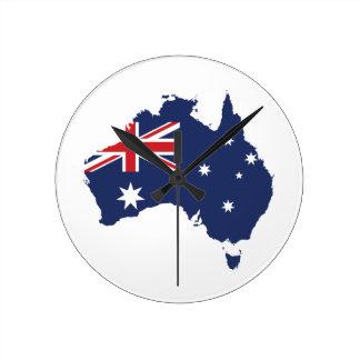 Australian Flag Round Clock