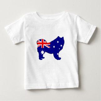Australian Flag - Samoyed Baby T-Shirt