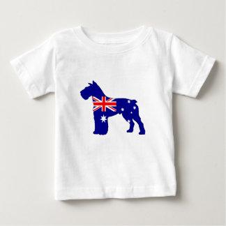 Australian Flag - Schnauzer Baby T-Shirt