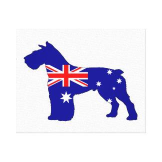 Australian Flag - Schnauzer Canvas Print