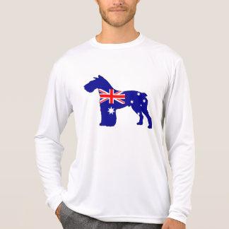 Australian Flag - Schnauzer T-Shirt
