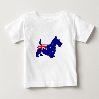 Australian Flag - Scottish Terrier Baby T-Shirt