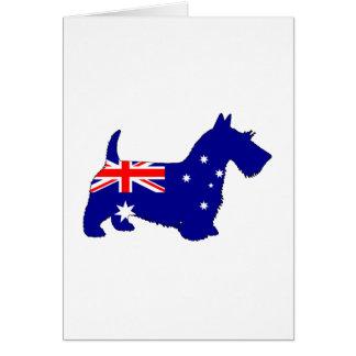 Australian Flag - Scottish Terrier Card