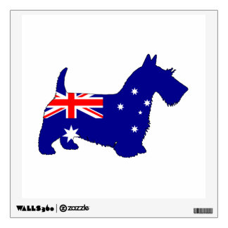 Australian Flag - Scottish Terrier Wall Sticker
