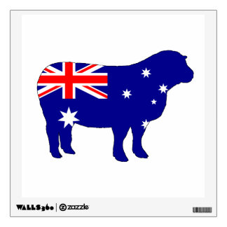 Australian Flag - Sheep Wall Sticker