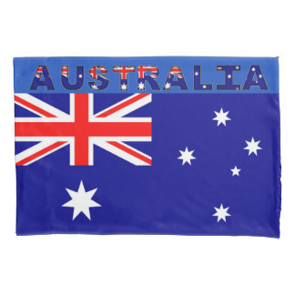 Australian Flag Single Pillowcase, Standard Size Pillowcase
