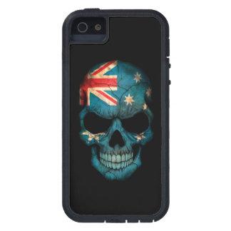 Australian Flag Skull on Black iPhone 5 Cases