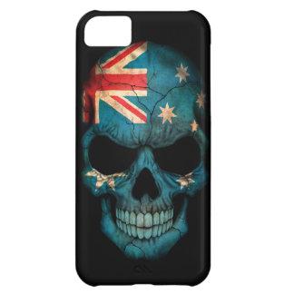 Australian Flag Skull on Black iPhone 5C Cases