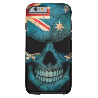 Australian Flag Skull on Black Tough iPhone 6 Case