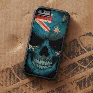 Australian Flag Skull on Black Tough Xtreme iPhone 6 Case