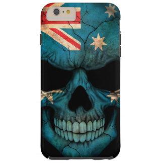 Australian Flag Skull on Black Tough iPhone 6 Plus Case