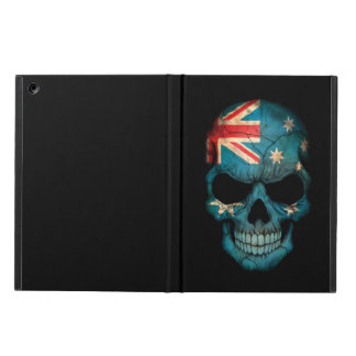 Australian Flag Skull on Black iPad Air Cover