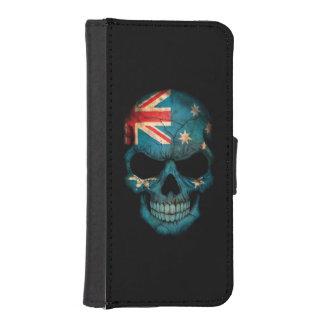 Australian Flag Skull Phone Wallet Case