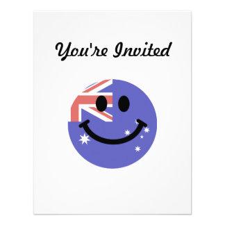 Australian flag smiley face custom announcements