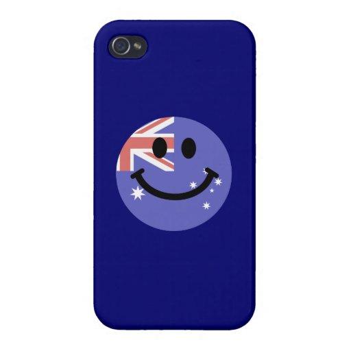 Australian flag smiley face iPhone 4 cover
