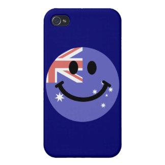 Australian flag smiley face iPhone 4/4S cover
