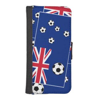 Australian Flag Soccer Balls iPhone 5 Wallets