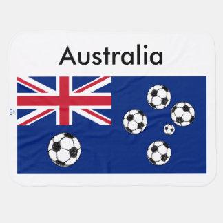 Australian Flag Soccer balls Swaddle Blankets