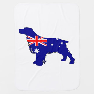 Australian Flag - Spaniel Baby Blanket