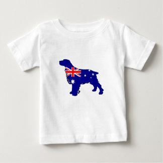 Australian Flag - Spaniel Baby T-Shirt