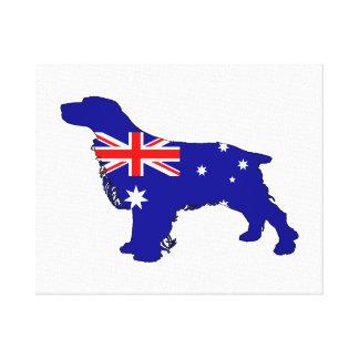 Australian Flag - Spaniel Canvas Print