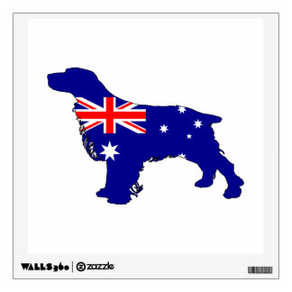 Australian Flag - Spaniel Wall Sticker