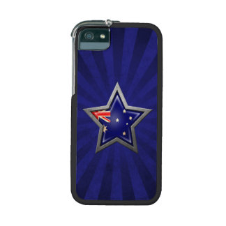 Australian Flag Star with Rays of Light iPhone 5 Covers