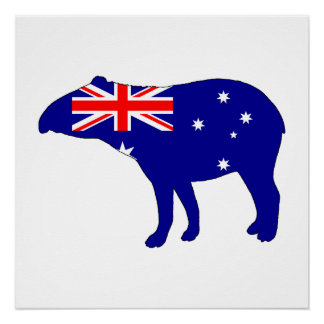 Australian Flag - Tapir Perfect Poster