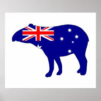 Australian Flag - Tapir Poster