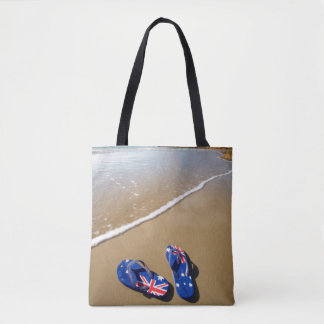 Australian Flag Thongs On Beach | South Wales Tote Bag