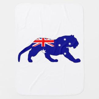 Australian Flag - Tiger Baby Blanket