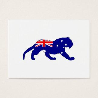 Australian Flag - Tiger Business Card