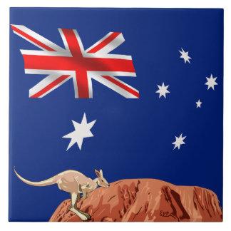 Australian flag tile
