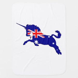 Australian Flag - Unicorn Swaddle Blanket