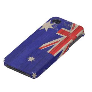 Australian Flag vintage grunge Cases For iPhone 4