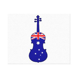 Australian Flag - Viola Canvas Print