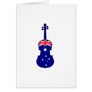 Australian Flag - Viola Card