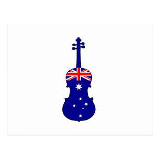 Australian Flag - Viola Postcard