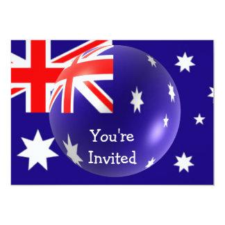 Australian Flag With Bubble Invitation