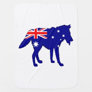 Australian Flag - Wolf Baby Blanket