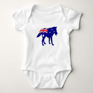 Australian Flag - Wolf Baby Bodysuit
