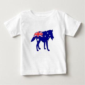 Australian Flag - Wolf Baby T-Shirt