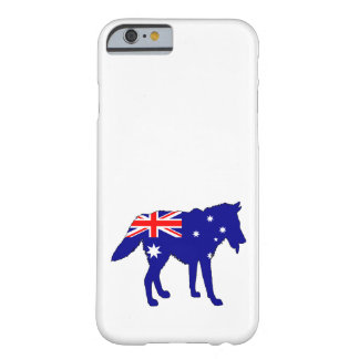 Australian Flag - Wolf Barely There iPhone 6 Case