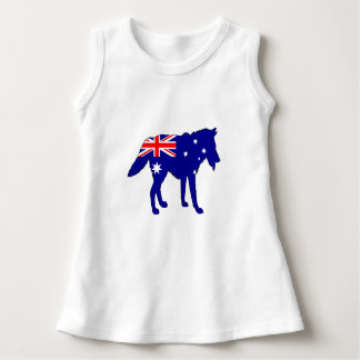 Australian Flag - Wolf Dress