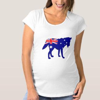 Australian Flag - Wolf Maternity T-Shirt