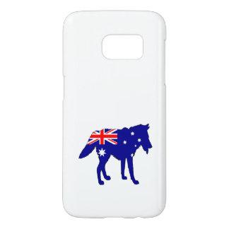 Australian Flag - Wolf Samsung Galaxy S7 Case